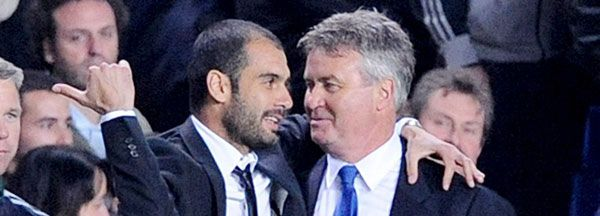 Josep Guardiola y Guus Hiddink