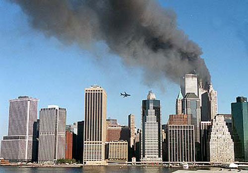 A second aircraft approaches the World Trade Center, Kelly Guenther