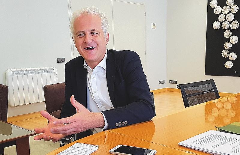 El nuevo alcalde de Logroño charla con GENTE en Logroño · Álvaro López/GENTE